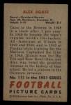 1951 Bowman #111  Alex Agase  Back Thumbnail