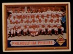 1957 Topps #214   Phillies Team Front Thumbnail
