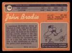 1970 Topps #130  John Brodie  Back Thumbnail