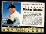 1961 Post Cereal #4 BOX Mickey Mantle   Front Thumbnail