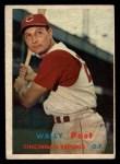 1957 Topps #157  Wally Post  Front Thumbnail
