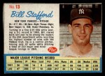 1962 Post #13  Bill Stafford   Front Thumbnail