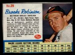 1962 Post #29  Brooks Robinson   Front Thumbnail