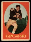 1958 Topps CFL #15  Tommy Grant  Front Thumbnail