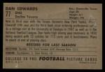 1952 Bowman Large #77  Dan Edwards  Back Thumbnail