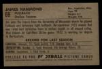 1952 Bowman Large #69  James Hammond  Back Thumbnail