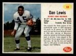 1962 Post #53  Dan Lewis  Front Thumbnail