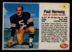 1962 Post #6  Paul Hornung  Front Thumbnail