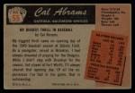1955 Bowman #55  Cal Abrams  Back Thumbnail