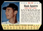1963 Post #54  Hank Aguirre  Front Thumbnail