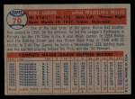 1957 Topps #70  Richie Ashburn  Back Thumbnail