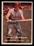 1957 Topps #70  Richie Ashburn  Front Thumbnail