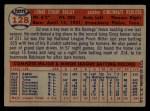 1957 Topps #128  Ed Bailey  Back Thumbnail
