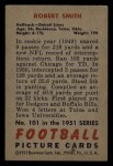 1951 Bowman #101  J Robert Smith  Back Thumbnail