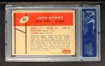 1960 Fleer #39  Jack Spikes  Back Thumbnail