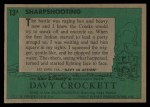 1956 Topps Davy Crockett #13 GRN  Sharpshooting  Back Thumbnail