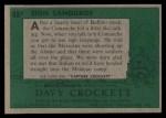 1956 Topps Davy Crockett #48 GRN  Sign Language  Back Thumbnail