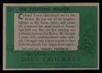 1956 Topps Davy Crockett #52 GRN  The Fighting Major  Back Thumbnail