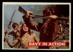 1956 Topps Davy Crockett #14 GRN  Davy in Action  Front Thumbnail