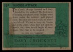 1956 Topps Davy Crockett #19 GRN  Suicide Attack  Back Thumbnail