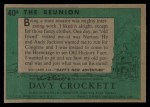 1956 Topps Davy Crockett #40 GRN  The Reunion  Back Thumbnail