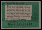 1956 Topps Davy Crockett #60 GRN  Furious Assault  Back Thumbnail