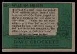 1956 Topps Davy Crockett #68 GRN  Wall of Bullets  Back Thumbnail
