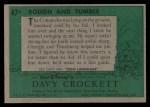 1956 Topps Davy Crockett #47 GRN  Rough and Tumble  Back Thumbnail