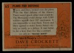 1956 Topps Davy Crockett #65 ORG  Plans For Defense  Back Thumbnail
