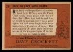 1956 Topps Davy Crockett #29 ORG  Face to Face with Death  Back Thumbnail