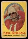 1958 Topps #57  Earl Morrall  Front Thumbnail