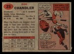 1957 Topps #23  Don Chandler  Back Thumbnail