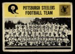1964 Philadelphia #153   Steelers Team Front Thumbnail