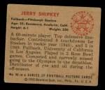 1950 Bowman #90  Jerry Shipkey  Back Thumbnail