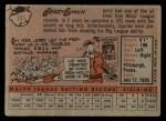 1958 Topps #103  Jerry Lynch  Back Thumbnail