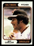 1974 Topps #560  Mike Cuellar  Front Thumbnail