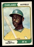 1974 Topps #345  Bill North  Front Thumbnail