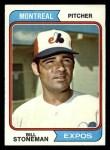 1974 Topps #352  Bill Stoneman  Front Thumbnail