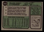 1974 Topps #352  Bill Stoneman  Back Thumbnail