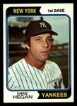 1974 Topps #517  Mike Hegan  Front Thumbnail