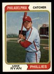 1974 Topps #564  Mike Ryan  Front Thumbnail