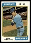 1974 Topps #349  John Vukovich  Front Thumbnail