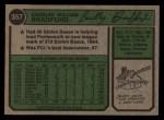 1974 Topps #357  Buddy Bradford  Back Thumbnail