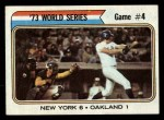1974 Topps #475   -  Ray Fosse / Rusty Staub 1973 World Series - Game #4 Front Thumbnail