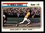 1974 Topps #477   -  Reggie Jackson 1973 World Series - Game #6 Front Thumbnail