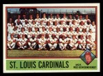1976 Topps #581   -  Red Schoendienst Cardinals Team Checklist Front Thumbnail