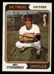 1974 Topps #488  Andy Etchebarren  Front Thumbnail