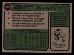 1974 Topps #496  Tom Murphy  Back Thumbnail