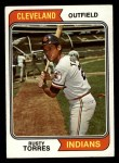 1974 Topps #499  Rusty Torres  Front Thumbnail
