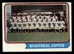 1974 Topps #508   Expos Team Front Thumbnail